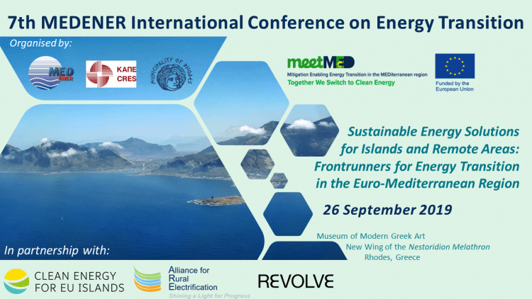 7th MEDENER International Conference on Energy Transition in the Euro–Mediterranean Region