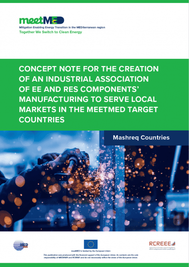 Concept Note for the Creation of an Industrial Association of EE and RES Components' Manufacturing to serve Local Markets in the meetMED Target Countries