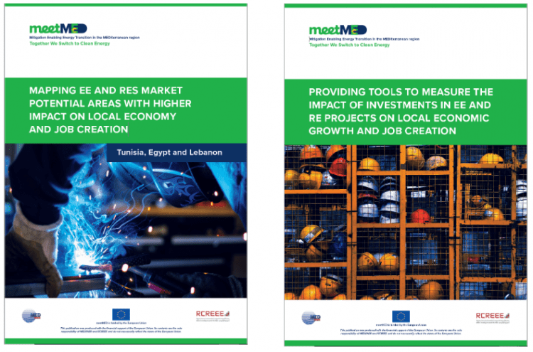 How can RES and EE projects boost local economic growth and create jobs in the Mediterranean region?